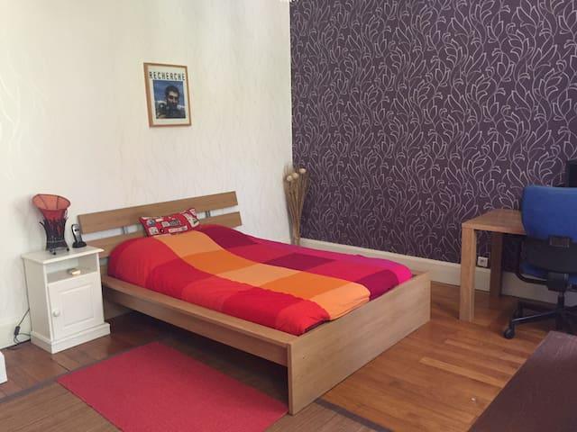 Grande chambre individuelle de 18m2 - Vourles - Casa