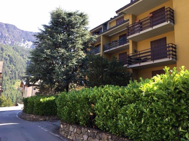 Trilocale spazioso con camino, balcone e box auto - Caspoggio