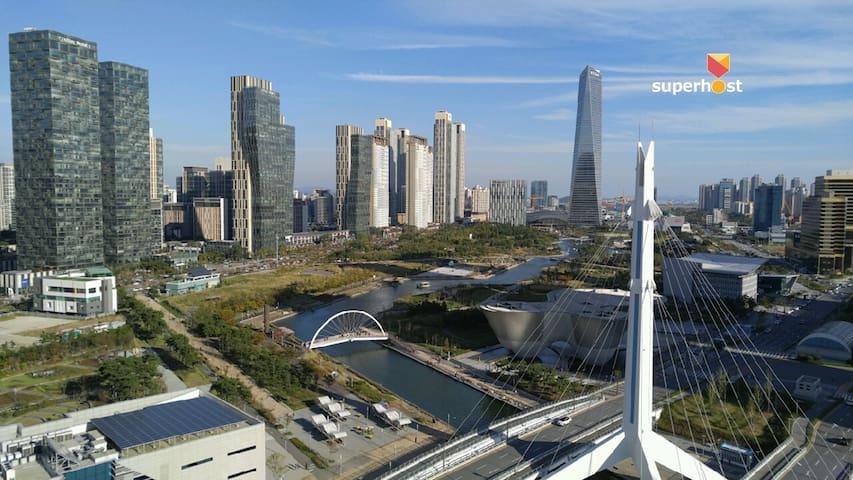 ★Sale★Cozy APT with City & River View - Yeonsu-gu