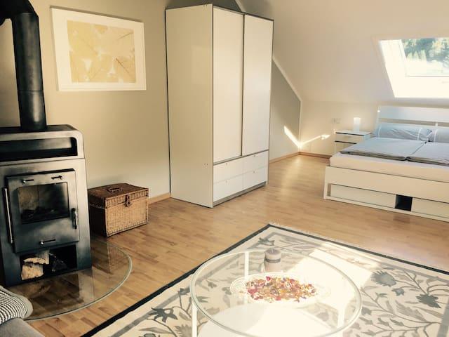 Beautiful 3-room apartment with chimney - Ilmenau - Appartement