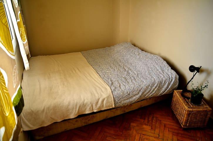 Double bed at a cozy flat in middle of Bornova - Bornova - Hus