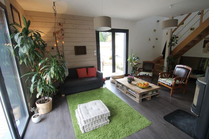 Suite parentale dans maison bois : détente assurée - Saint-Didier-de-Formans
