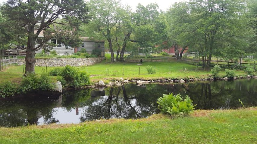 Historic & cozy horse farm, 75 mi. wooded trails - Burrillville