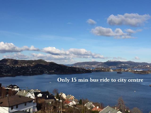 Beautiful house with jacuzzi, amazing scenery - Bergen