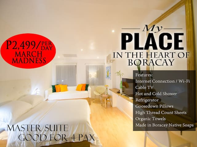 MY PLACE at the HEART of BORACAY for 4 Pax - Malay - Pousada