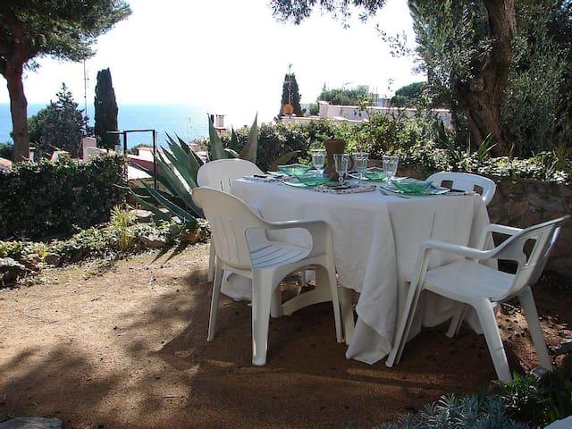 Loverly flat with garden and sea views near beach - Tossa de Mar - Appartement
