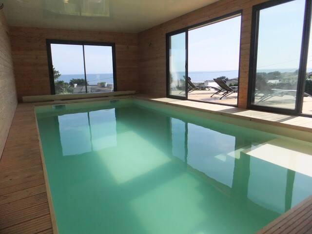 Pointe du raz villa vue mer piscine intérieure - Plouhinec - Villa