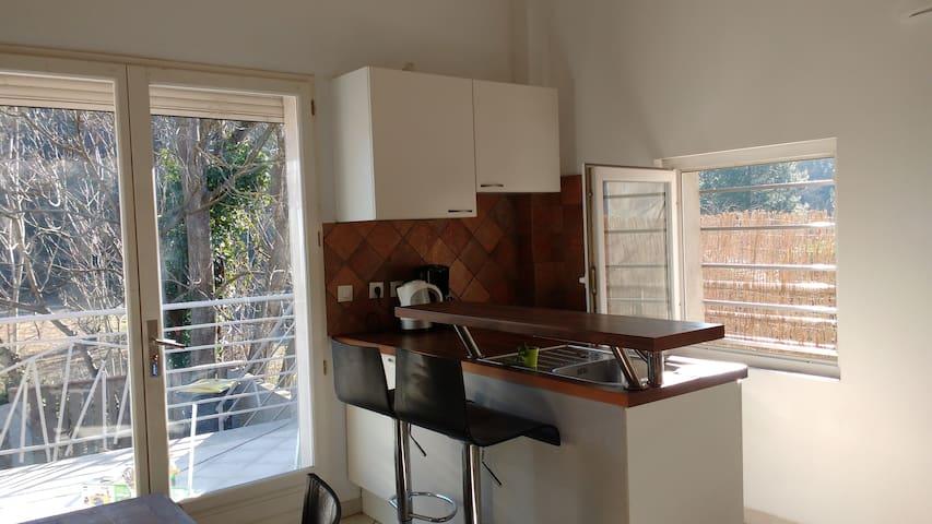F2 DUPLEX terrasse - Lamalou-les-Bains - Apartemen