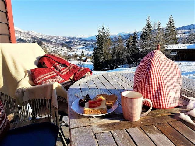 Superkoselig hytte i Furedalen, ski in/ski out! - Kvamskogen - Kulübe