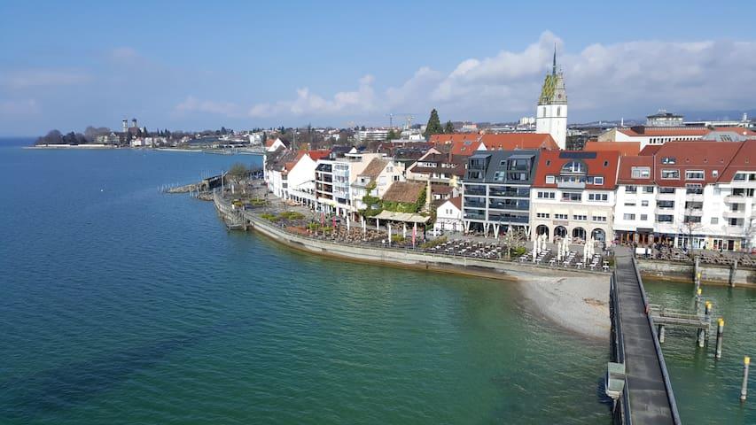 Private Room in paradise! 3 min to Stadt Bahnhof - Friedrichshafen - Leilighet