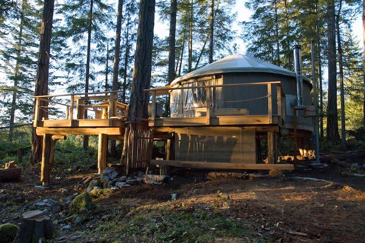 PADMA Yurt on Cortes Island, B.C. - Whaletown - Rundzelt