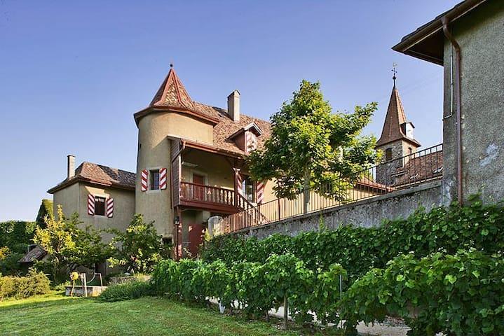 Belle suite au Château avec vue - Allaman - Castelo
