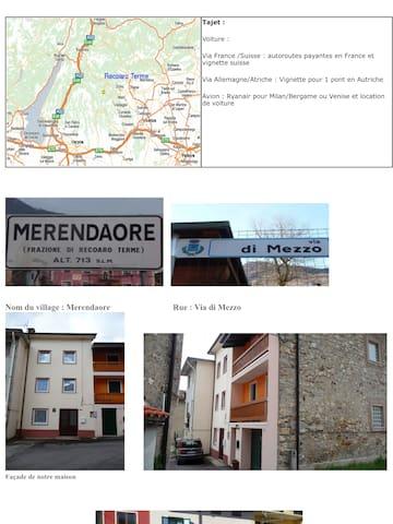 Maison en montagne en Italie du nord - Merendaore - Maison