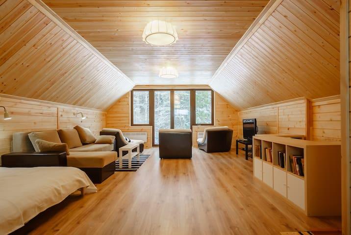 Brand-new wooden house FoRRest Club - Колодищи - Hus