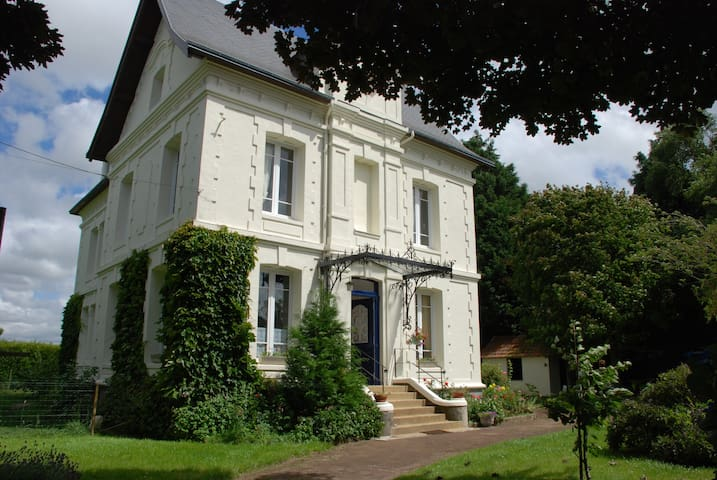 Chambre avec douche dans belle maison de maitre - Saint-Romain-de-Colbosc