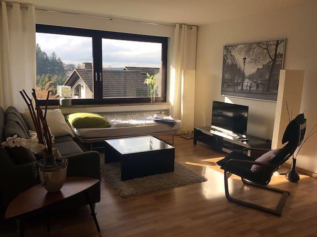 Ruhe & Natur Blick nahe Frankfurt - Glashütten - Apartemen