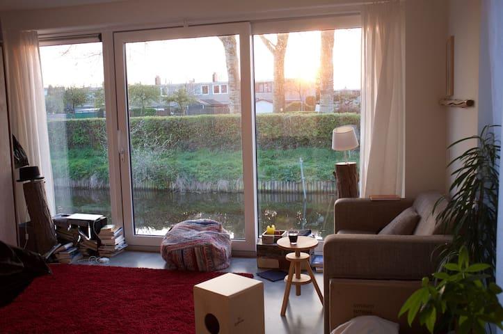 Private studio on a brand new living boat - Amsterdam - Apartament