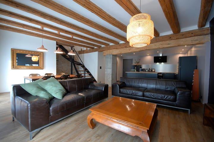 Maison BED'ZEL HOME gîte 6-8 pers. avec piscine - Ingersheim - Huis