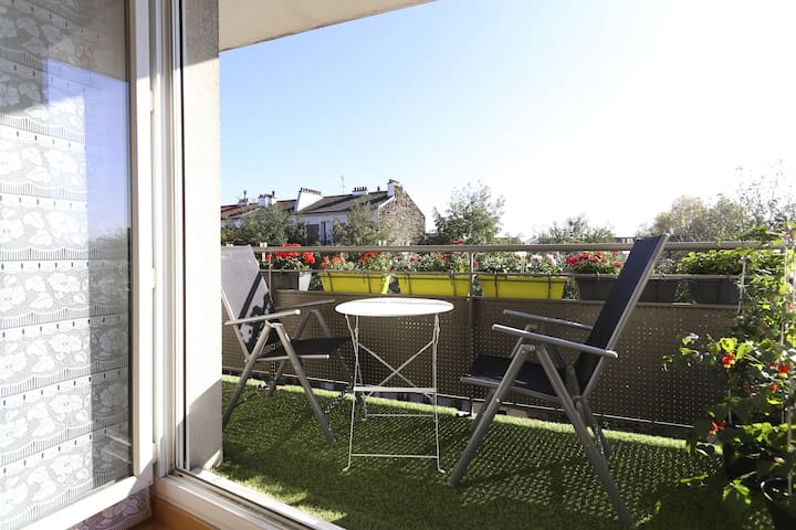2 rooms with balcony-3mn from Paris - Ivry-sur-Seine - Pis