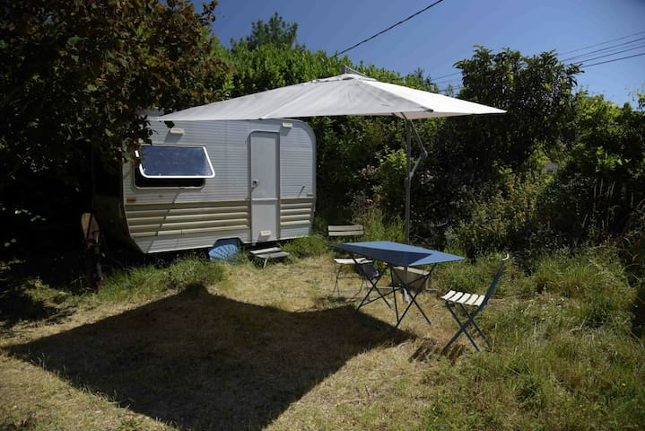 Caravane dans jardin avec piscine - Villenouvelle - Huis