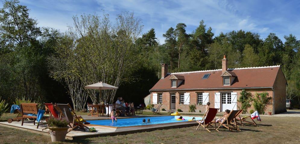 Maison Solognote au coeur de la forêt - Ménestreau-en-Villette - Hus