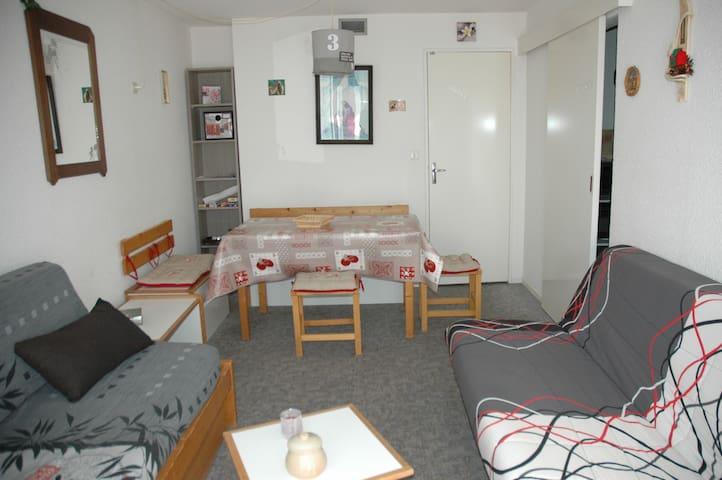 Résidence  Lunik Orion 28 m2, vue vallée 6e étage - Villarembert - Selveierleilighet