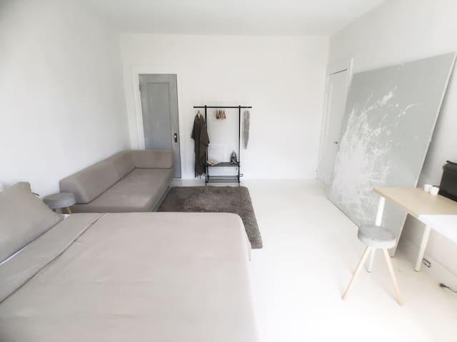 Large, Modern & Minimalist Mini Suite - Brookline - Leilighet