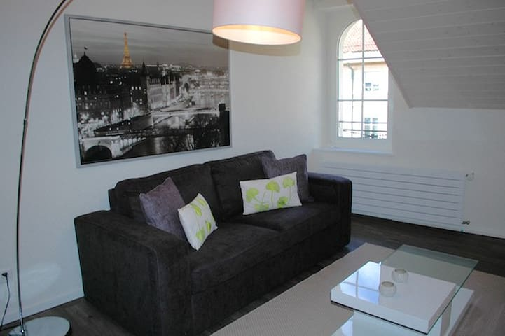 Stunning mezzanine in city center - Morges - Apartemen