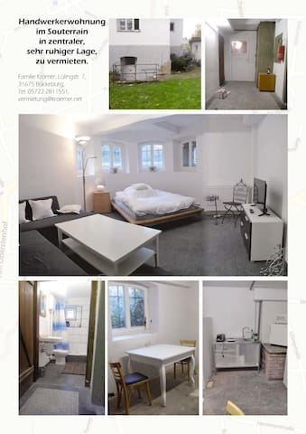 kleines Zimmer im Souterrain - Bückeburg - Appartement