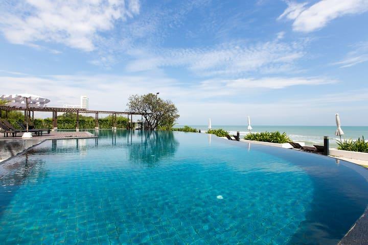 4 Bed Pool Villa @ Seaside Resort คอนโดริมหาดชะอำ - Cha-am - Apartemen