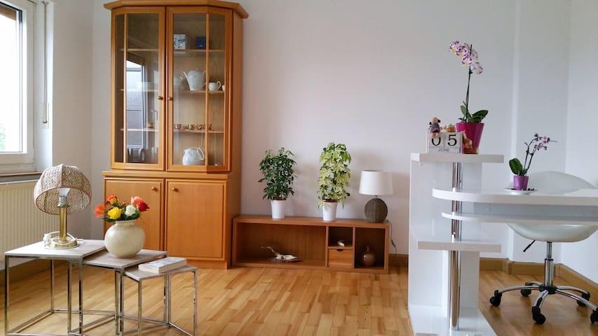 2 helle & geräumige Zimmer mit tollem Ausblick - Ansbach - Lägenhet