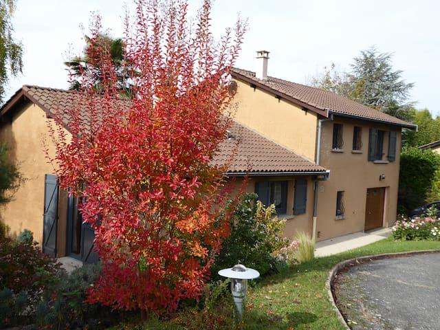 Villa ensoleillée au calme dans le  val de Saône . - Reyrieux - Villa