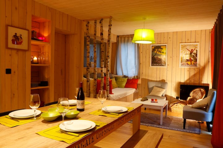 Wooden lodge with sauna, all comfort, Gap - La Roche-des-Arnauds - Alpstuga