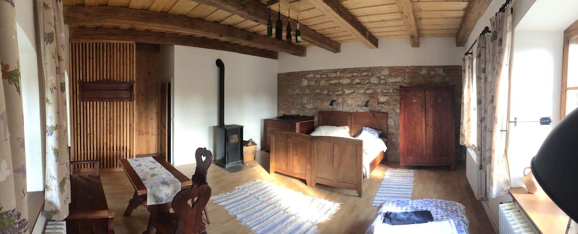 Tágas szoba felújított parasztház/1 - Zirc - Daire