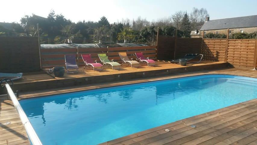 Superbe endroit piscine chauffée - Condé-sur-Noireau - Maison