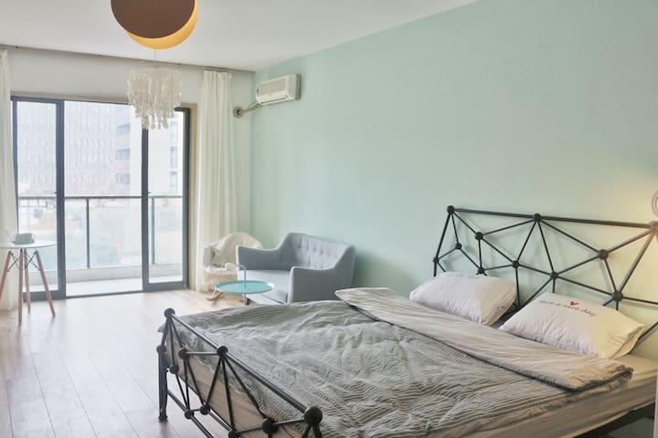 「茉莉」春熙路★太古里★九眼桥★宽窄巷子|地铁口的美貌清新公寓 - Chengdu - Apartament