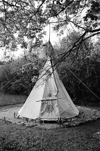 Under The Lime Tree Spa ~ Tipi - Cellefrouin - Tenda Indígena