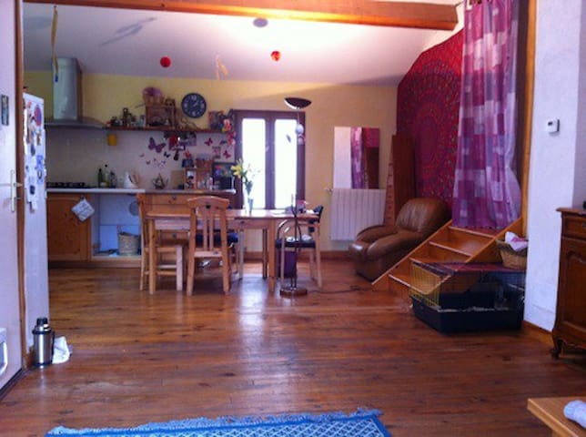 Chambre dans habitat écologique au coeur de Couiza - Couiza