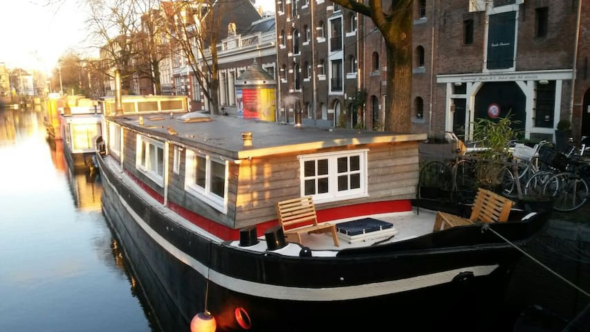 Cosy little studio in a houseboat. - Amsterdam