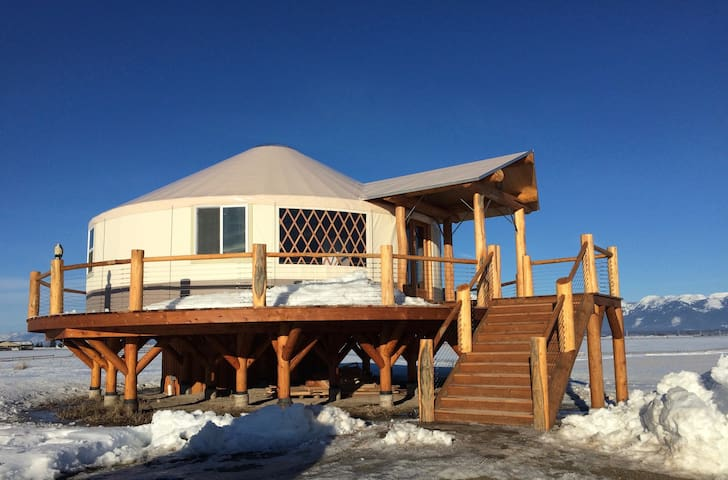 Beautiful Upscale Yurt bordering on Flathead Lake - Somers - Jurta