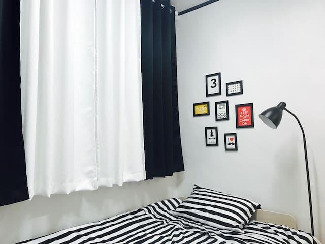 Black and White  따뜻하고 안락한 하우스 - Seongdong-gu - Departamento