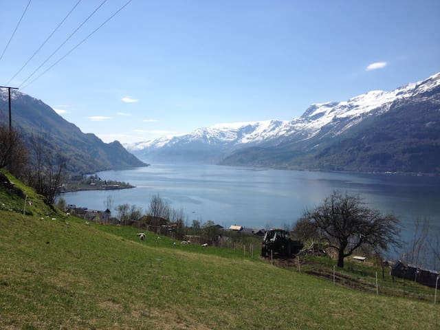 Apartment with amazing view of Hardangerfjorden - Lofthus - Appartement