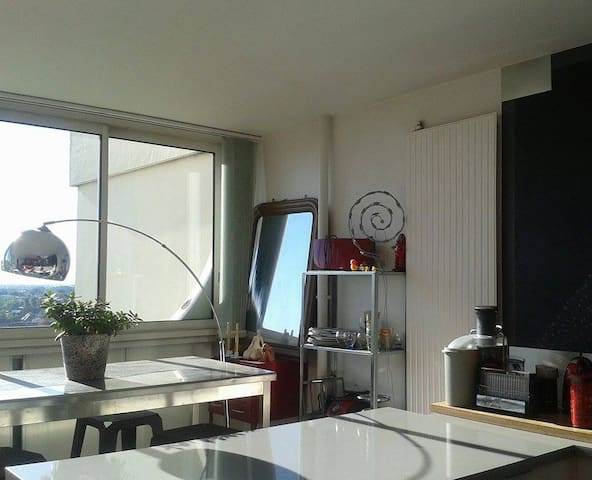 Bedroom on the 14th floor, panoramic view ! - Angers - Appartement