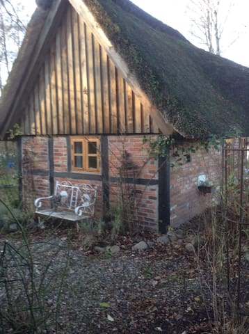 Kleines reetgedecktes Ferienhaus - Grebin - Hus