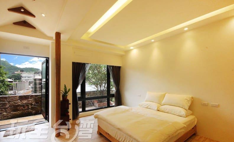 九份閒情民宿-山景逸致二人房(可加床1人)位於老街中段 - Ruifang District - Apartemen