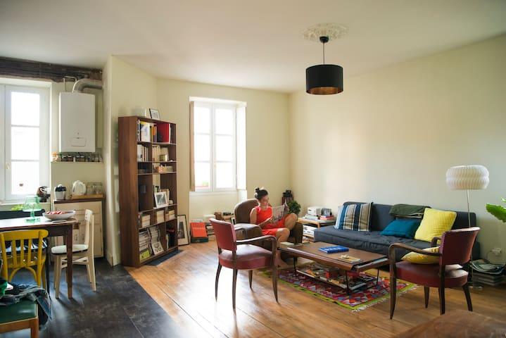 Bel appartement esprit Loft dans le centre-ville - Nantes - Daire