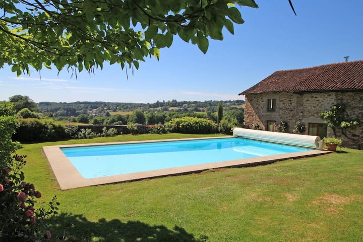 Stunning view over the french countryside - Condat-sur-Vienne - Huis