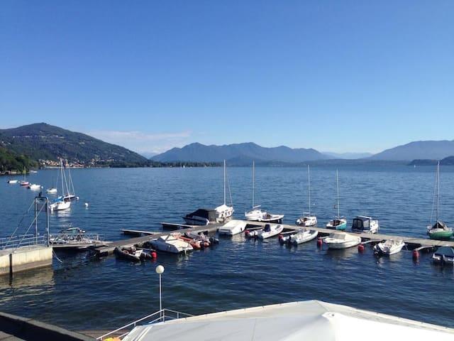 Bilocale lago Maggiore    - Meina - Daire