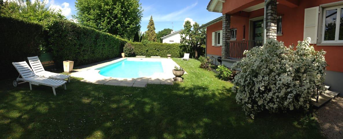 Beautiful Villa (private pool) nearby Geneva Lake - Genthod - Vila