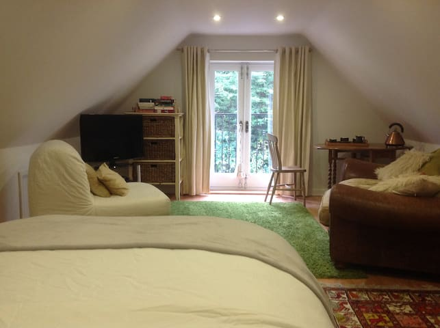 Large self contained room & bathroom, own access - Rowland's Castle - Hus